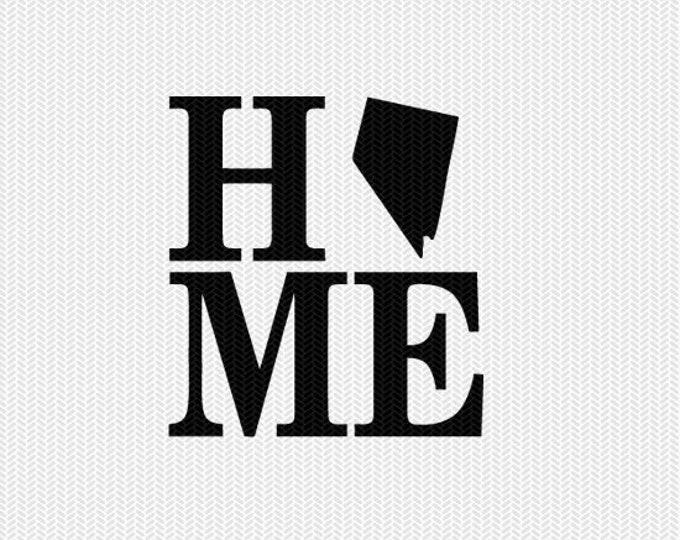 nevada home svg dxf file stencil monogram frame silhouette cameo cricut download clip art commercial use