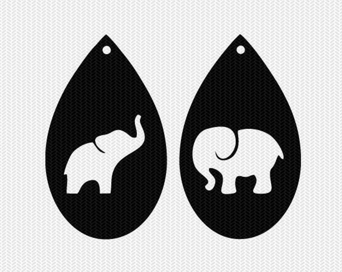 elephant earring template earring svg gift tags cricut download svg dxf file stencil silhouette cameo cricut clip art commercial use