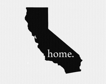 california home svg dxf file stencil instant download silhouette cameo cricut downloads clip art home state svg dxf file