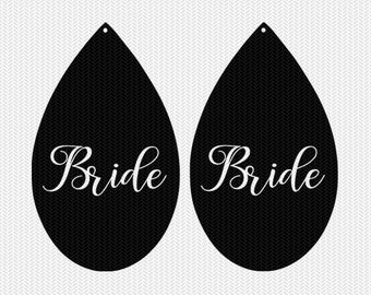 bride earring template earring svg gift tags cricut download svg dxf file stencil silhouette cameo cricut clip art commercial use