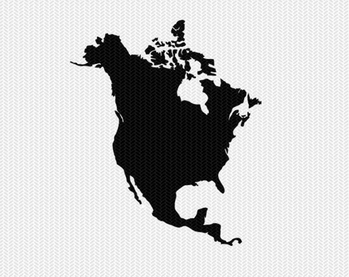 north america svg dxf file stencil monogram frame silhouette cameo cricut download clip art commercial use