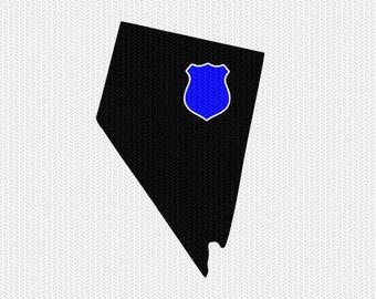 nevada police svg dxf file stencil instant download silhouette cameo cricut downloads clip art state svg dxf file