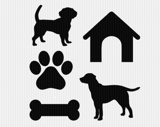 dog paws set svg dxf file instant download silhouette cameo cricut download clip art commercial use