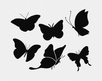 butterflies svg dxf file instant download silhouette cameo cricut clip art commercial use