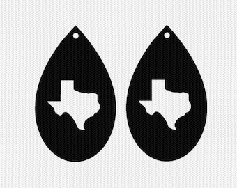 texas earring template earring svg gift tags cricut download svg dxf file stencil silhouette cameo cricut clip art commercial use
