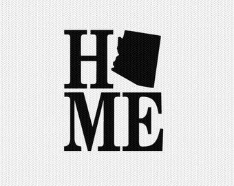 arizona home svg dxf file stencil monogram frame silhouette cameo cricut download clip art commercial use