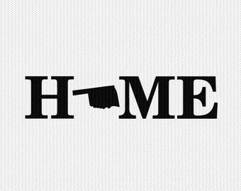 oklahoma home svg dxf file stencil monogram frame silhouette cameo cricut download clip art commercial use