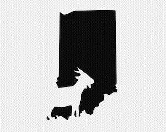 indiana goat svg dxf file stencil instant download silhouette cameo cricut downloads clip art animals goat state svg dxf file