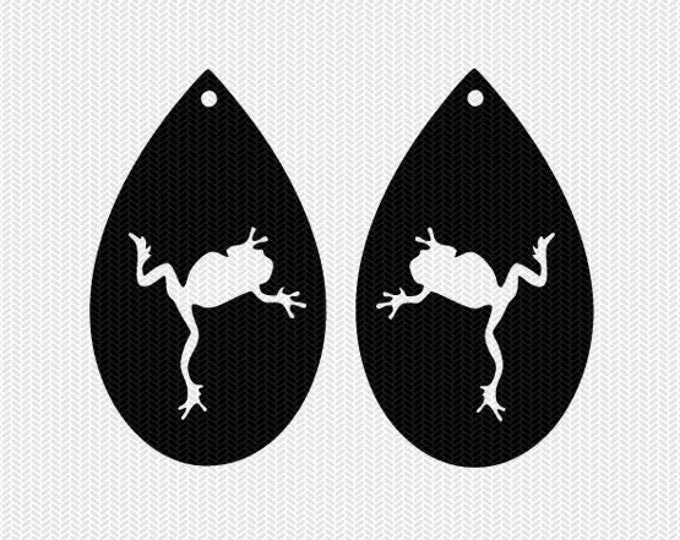 frogs earring template earring svg gift tags cricut download svg dxf file stencil silhouette cameo cricut clip art commercial use
