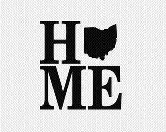 ohio home svg dxf file stencil monogram frame silhouette cameo cricut download clip art commercial use