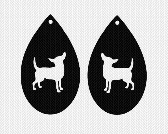 dog earring template earring svg gift tags cricut download svg dxf file stencil silhouette cameo cricut clip art commercial use