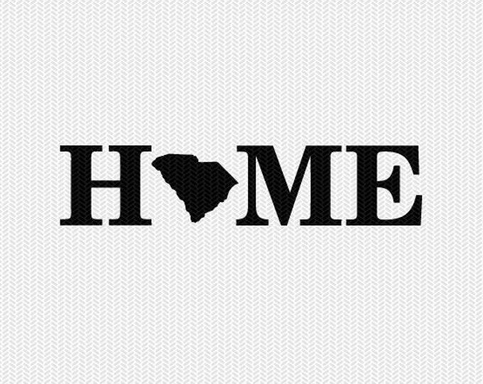 south carolina home svg dxf file stencil monogram frame silhouette cameo cricut download clip art commercial use