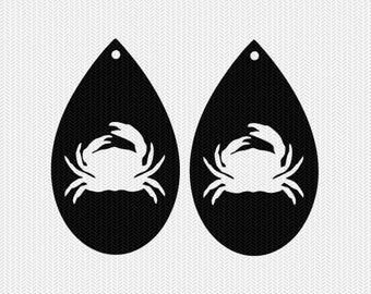 crab earring template earring svg gift tags cricut download svg dxf file stencil silhouette cameo cricut clip art commercial use