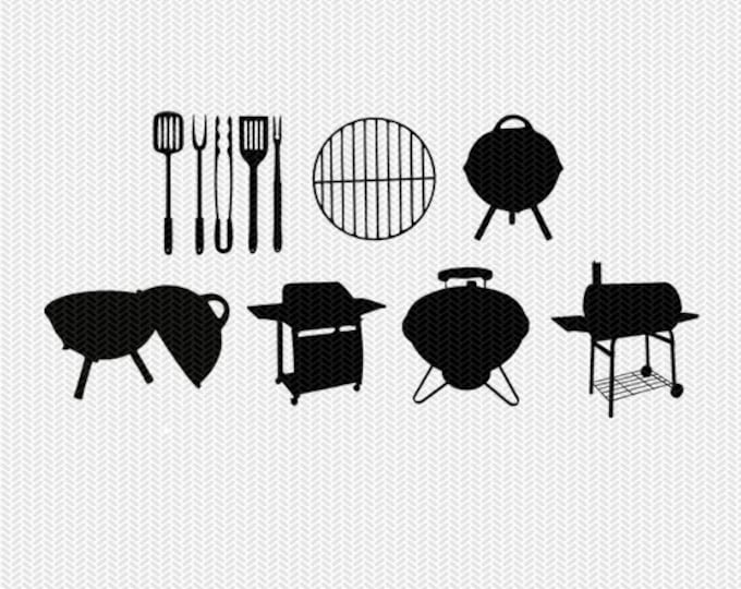 grill svg svg dxf file stencil silhouette cameo cricut clip art commercial use
