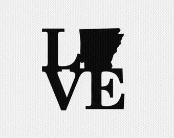 arkansas love svg dxf file stencil monogram frame silhouette cameo cricut download clip art commercial use