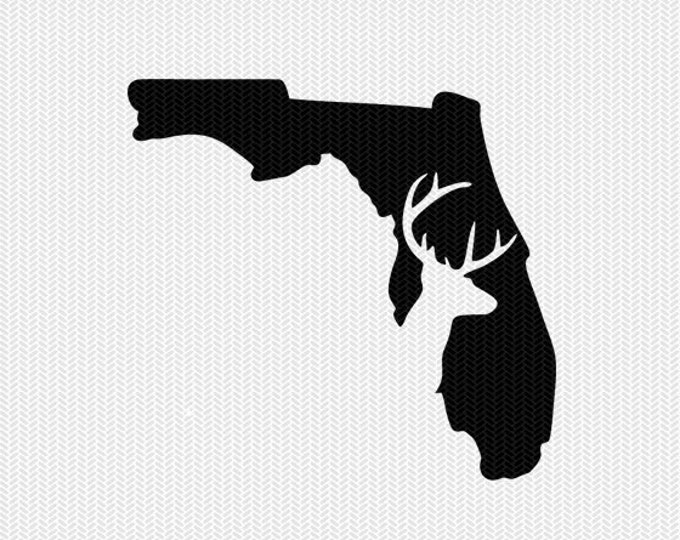 florida deer hunting svg dxf file stencil instant download silhouette cameo cricut downloads clip art deer hunting state svg dxf file