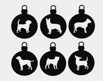 dog ornament svg gift tags cricut download svg dxf file stencil silhouette cameo cricut clip art commercial use