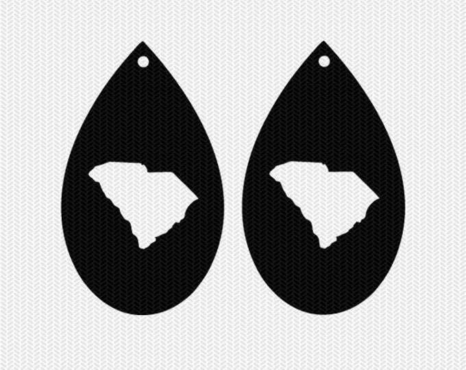 south carolina earring template earring svg gift tags cricut download svg dxf file stencil silhouette cameo cricut clip art commercial use