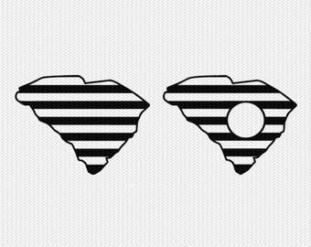 south carolina stripes monogram svg dxf file download stencil silhouette cameo cricut downloads cut file downloads clip art commercial use