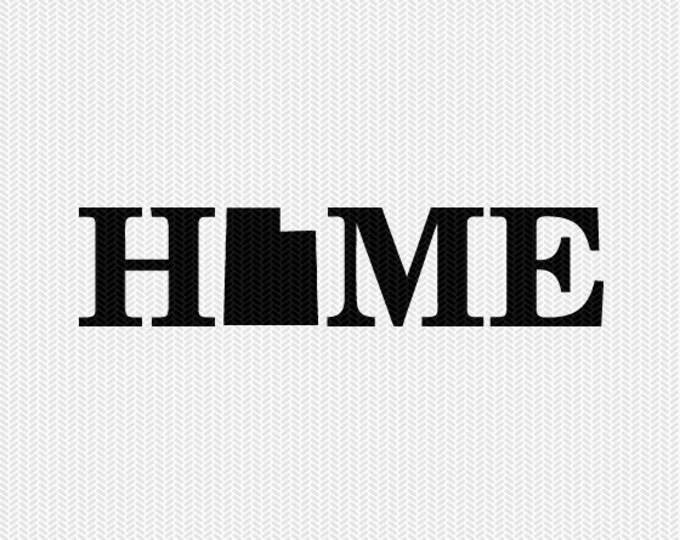 utah home svg dxf file stencil monogram frame silhouette cameo cricut download clip art commercial use