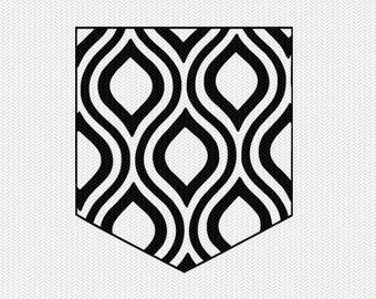 pattern pocket set svg dxf file instant download silhouette cameo cricut downloads clip art commercial use
