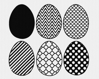 easter egg pattern set svg dxf file instant download silhouette cameo cricut downloads clip art commercial use