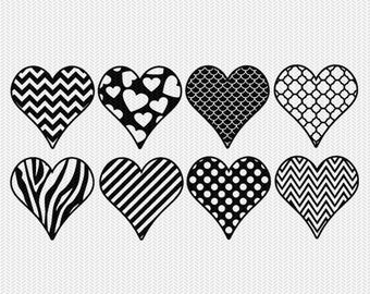 heart patterns gift tags stickers bottle caps svg dxf file stencil silhouette cameo cricut downloads clip art commercial use