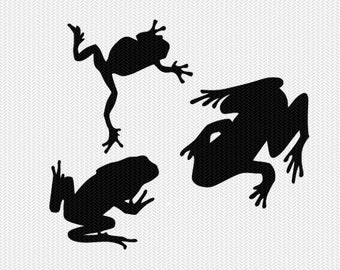 frogs silhouette svg dxf file instant download silhouette cameo cricut downloads clip art