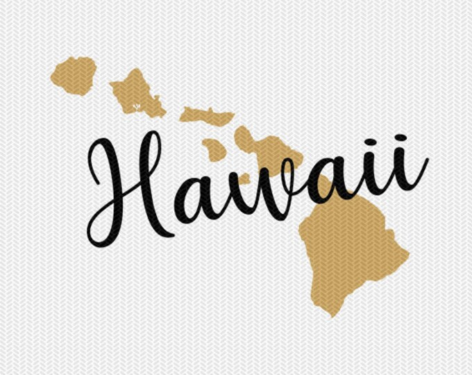 hawaii state svg dxf file instant download silhouette cameo cricut downloads clip art commercial use