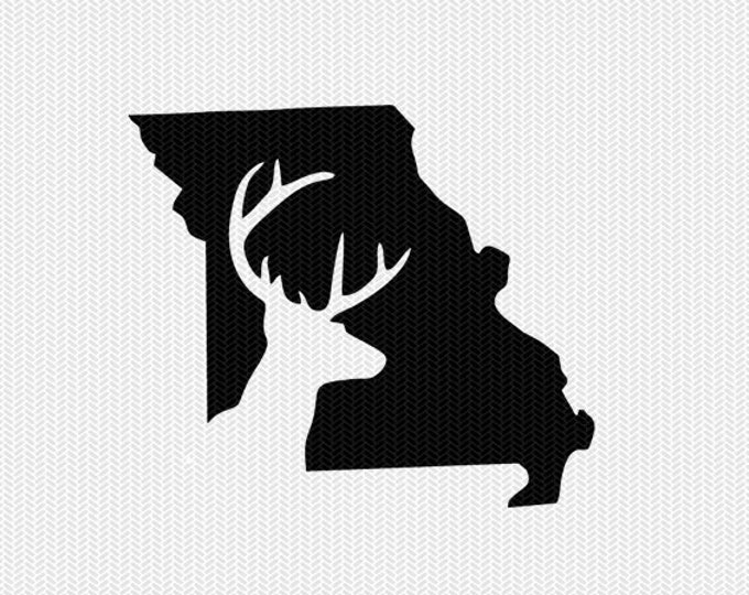 missouri deer hunting svg dxf file stencil instant download silhouette cameo cricut downloads clip art deer hunting state svg dxf file