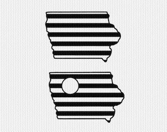 iowa stripes monogram svg dxf file download stencil silhouette cameo cricut downloads cut file downloads clip art commercial use