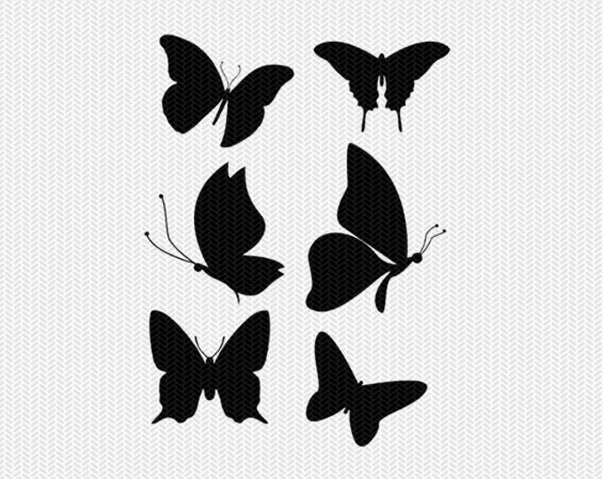 butterflies silhouette cut file instant download silhouette cameo cricut download clip art