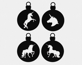 unicorn ornament svg gift tags cricut download svg dxf file stencil silhouette cameo cricut clip art commercial use