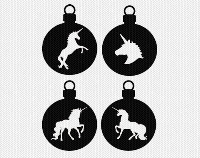 unicorn ornament svg gift tags cricut download svg dxf file stencil silhouette cameo cricut clip art commercial use