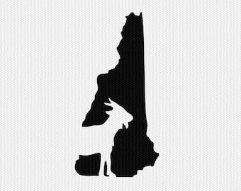 new hampshire goat svg dxf file stencil instant download silhouette cameo cricut downloads clip art animals goat state svg dxf file