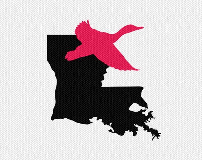 louisiana duck svg dxf cut file stencil silhouette cameo cricut downloads clip art commercial use