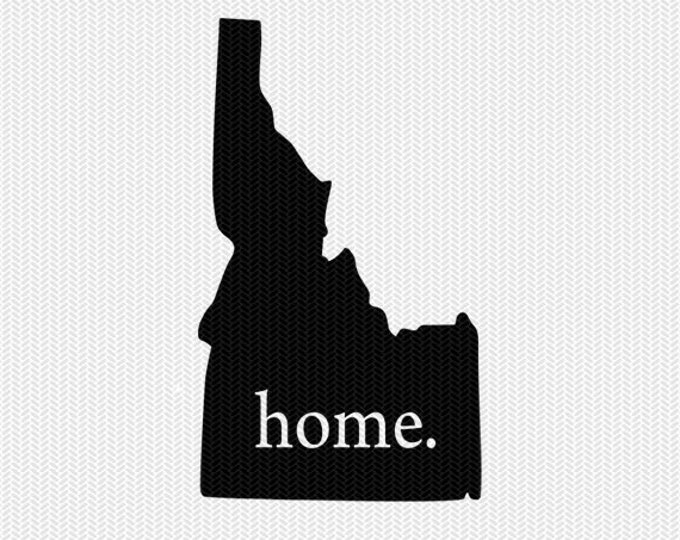 idaho home svg dxf file stencil instant download silhouette cameo cricut downloads clip art home state svg dxf file