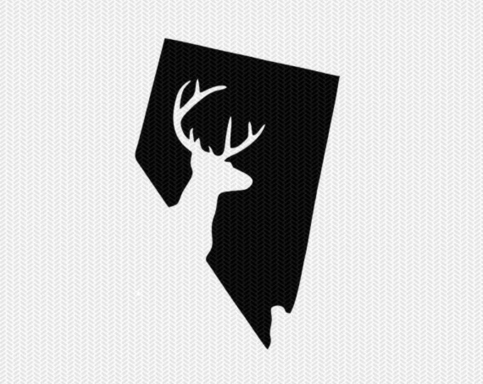 nevada deer hunting svg dxf file stencil instant download silhouette cameo cricut downloads clip art deer hunting state svg dxf file