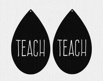 teach earring template earring svg gift tags cricut download svg dxf file stencil silhouette cameo cricut clip art commercial use