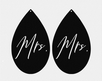 mrs. earring template earring svg gift tags cricut download svg dxf file stencil silhouette cameo cricut clip art commercial use