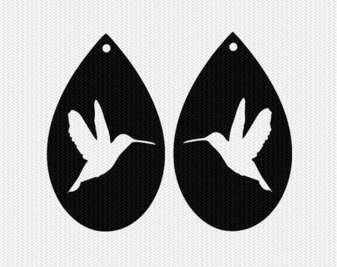 hummingbird earring template earring svg gift tags cricut download svg dxf file stencil silhouette cameo cricut clip art commercial use