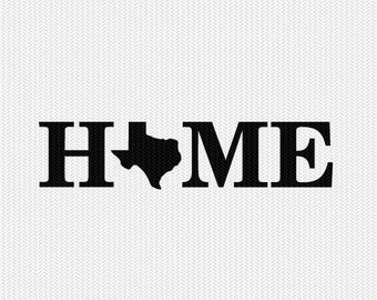 texas home svg dxf file stencil monogram frame silhouette cameo cricut download clip art commercial use