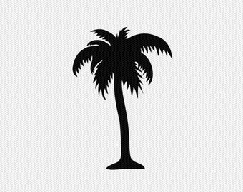 palm tree decal silhouette svg dxf file instant download silhouette cameo cricut downloads clip art commercial use