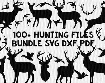 hunting deer duck bundle silhouette svg dxf file instant download silhouette cameo cricut downloads clip art commercial use