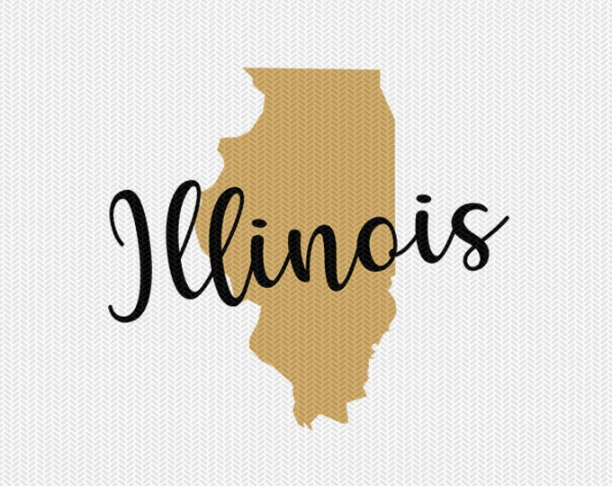 illinois state svg dxf file instant download silhouette cameo cricut downloads clip art commercial use