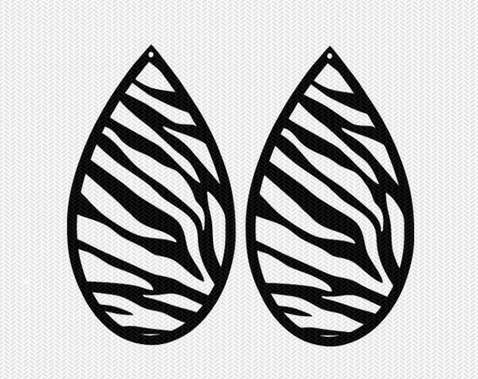 zebra print earring template earring svg gift tags cricut download svg dxf file stencil silhouette cameo cricut clip art commercial use