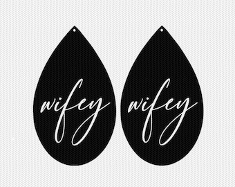 wifey earring template earring svg gift tags cricut download svg dxf file stencil silhouette cameo cricut clip art commercial use