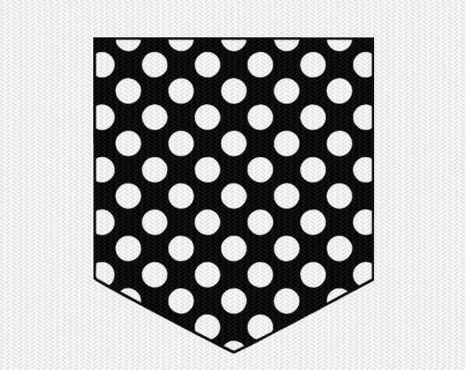 polka dots pocket svg dxf file instant download silhouette cameo cricut downloads clip art commercial use