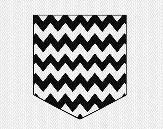 chevron pattern pocket set svg dxf file instant download silhouette cameo cricut downloads clip art commercial use