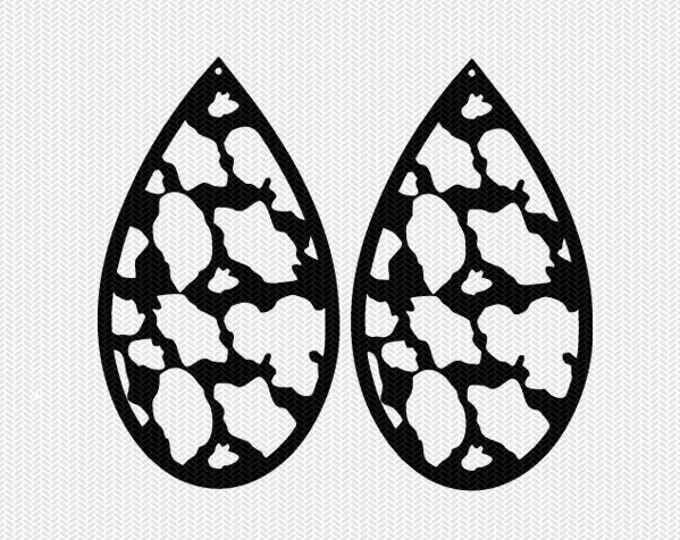 cow pattern earring template earring svg gift tags cricut download svg dxf file stencil silhouette cameo cricut clip art commercial use